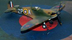 Supermarine Spitfire Mk.1a, P9953, ZP-A, No. 74 Squadron, Sq.-Ldr. D.F. Sailor Malan, RAF Battle of Britain, summer 1940 Science Fiction, Supermarine Spitfire, Battle Of Britain, Ldr, Scale Models, Airplane, Sailor, Fighter Jets, Creative