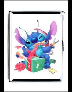 stitch and lilo Double-sided cigarette lighter case money clip wallet