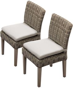 TK Classics TKC092b-ADC-C 2 Piece Cape Cod Armless Dining Chairs, Beige. Luxury Patio Furniture. Color : Beige. Designed to create luxurious outdoor living environment.