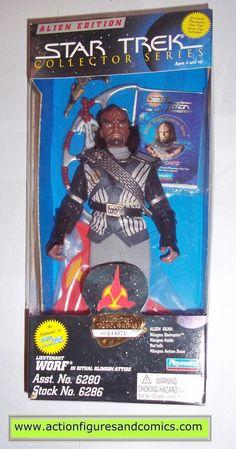 Star Trek WORF ritual klingon attire 9 inch playmates toys action figures moc mip mib