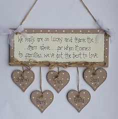 Shabby Chic Personalised Family Best To Love Plaque Sign Gift Keepsake