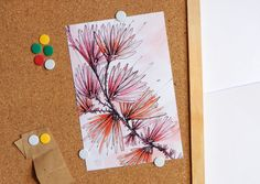 Beautiful Card with flowers // Flower watercolor by PlankArt