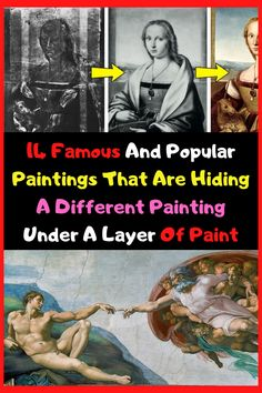 14 Famous And Popular Paintings That Are Hiding A Different Painting Under A Layer Of Paint Beauty Tips With Honey, Popular Paintings, Fantasy Photography, Ancient Aliens, New Pins, Funny Comics, Weird, Places To Visit, Comic Books