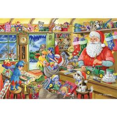 Santas Workshop - 1000 Piece Jigsaw Puzzle from Jigsaw Puzzles Direct - Order today and Get Free Delivery