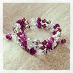 FREE SHIPPING Lovely Glass Bead Nursing Bracelet by PrairieDustInc, $35.00 Mom Jewelry, Craft Jewelry, Jewelry Shop, Faceted Glass, Glass Beads, Deep Burgundy, Nursing, Beaded Bracelets, Free Shipping