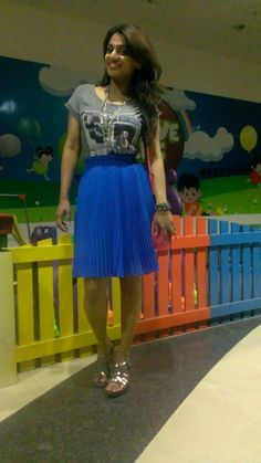 Love this bright blue skirt of mine....I keep wearing it every weekend!