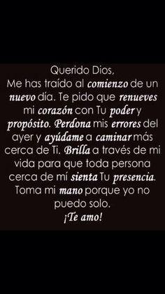 Querido Dios help me please Faith Quotes, Bible Quotes, Bible Verses, Me Quotes, Prayer Quotes, Wisdom Quotes, Qoutes, Catholic Prayers, God Prayer