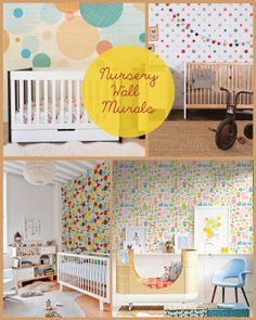 WALL MURAL for the #Nursery - let your baby enjoy the colourful world! #design #wallpaper #baby