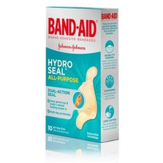 Band-Aid Brand Hydro Seal All Purpose Adhesive Bandages - Toe Blister, Open Heart Surgery, Seal All, Natural Rubber Latex, Wound Care, Wound Healing, Band Aid, First Aid Kit, Natural Healing