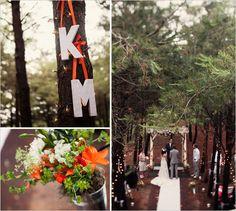 An orange vineyard wedding