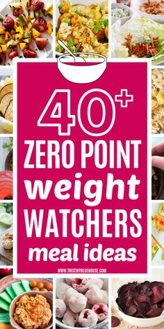 Fill up on these zero point Weight Watchers meals and snacks. Dieting can… Fill yourself with these over 40 meals and snacks from Weight Watchers. Dieting can not be easier than these super satisfying, delicious Weight Watcher meal ideas. Weight Watcher Dinners, Dessert Weight Watchers, Weight Watchers Lunches, Weight Watchers Meal Plans, Weigh Watchers, Weight Loss, Lose Weight, Weight Watcher Recipes, Recipes
