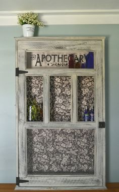 Vintage Apothecary Cabinet , Medicine Cabinet , Chalk Paint Finish ,  Farmhouse Style , Custom Made , Made To Order