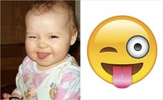 Luckily,we finally have some real life demonstrations on what these emojis actually means. The following babies showed us the real meanings on some of the most used emojis.