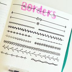 "BREEE en Instagram: ""Started drawing up some borders inspo for bullet journals ""                                                                                                                                                     More"