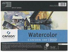 "Canson Watercolor Paper - 9"" x 12"" 90# Cold Pressed"