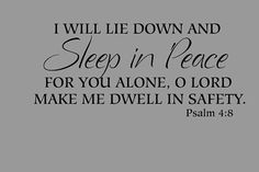 Psalm 48Bedroom wall decal  Bible verse by InspirationalDecals