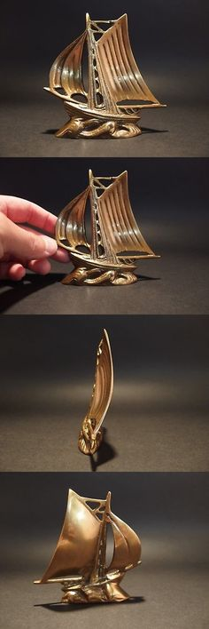 """9 1//2/"""" Vintage Antique Style Brass Nautical Ships Boat Anchor Paperweight Desk"""