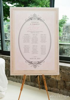 Sophisticated wedding table plan