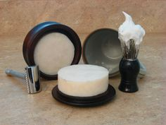 Shaving Soap from The Strop Shoppe. I love this picture because it reminds me of watching my dad shave when I was little. Homemade Beauty, Diy Beauty, Best Shaving Cream, Shaving Soap, Vegetable Glycerin, Beauty Packaging, Cold Process Soap, Handmade Soaps, Vegan Friendly