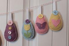 SALE DIY Felt Decorated Easter Egg Ornament Kit by StampandScrap, $18.00