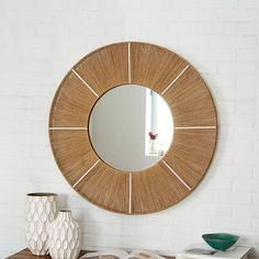 jute wrapped mirror