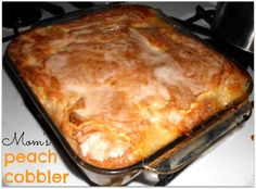 Peach cobbler with a crunchy sugar topping? Say no more, we will be making this tomorrow!