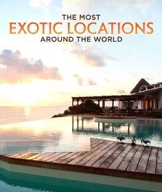 7 Exotic Locations Around The World #travel