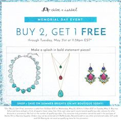 How's this for a bold statement: Buy 2, get 1 FREE — shop my c+i boutique today!