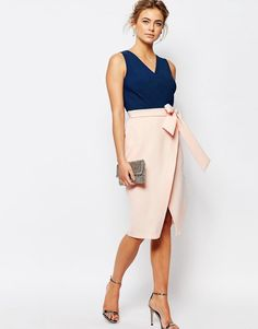 Image 4 ofCloset 2 in 1 Pencil Midi Dress with Wrap Front