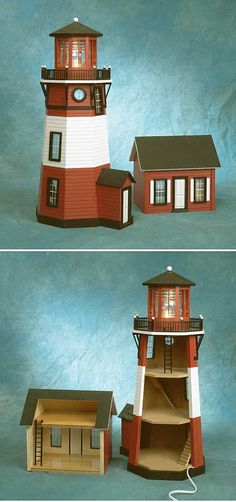 Bring the charm of the New England coast to your home with this stunning lighthouse miniature. Most notable of the kit's features is the working glass prism light. Screw in one of the included 25 watt
