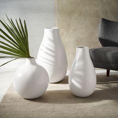 Pure white ceramic vases - west elm