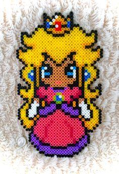 Princess Peach - Mario perler beads by KawaiiKel