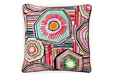 Native 20x20 Cotton Pillow, Red/Multi