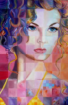 "Saatchi Online Artist: Robert Doesburg; Oil, 2009, Painting ""Curly Hair"""