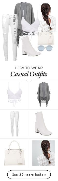 """Casual style ."" by namda on Polyvore featuring Warehouse, ASOS, Frame and For Art's Sake"