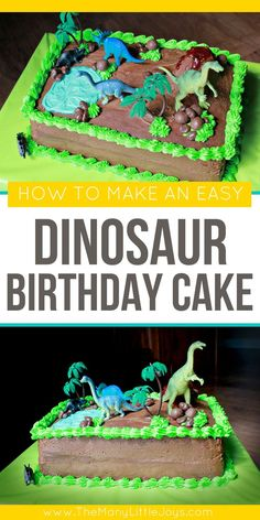 Have a little dinosaur loving boy or girl? This easy dinosaur cake will have them roaring for joy on their next birthday! Have a little dinosaur loving boy or girl? This easy dinosaur cake will have them roaring for joy on their next birthday! Dinosaur Cakes For Boys, Make A Dinosaur, Dinosaur Birthday Cakes, Dinosaur Party, Birthday Fun, Cake Birthday, Dinosaur Cake Easy, Dinosaur Cupcakes, Birthday Ideas