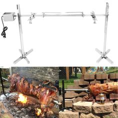 Large Grill Rotisserie Spit Roaster Rod Charcoal BBQ Pig Chicken Motor Kit for sale online Charcoal Bbq, Camping Grill, Macedonia, Barbacoa, Electric Bbq, Electric Motor, Bbq Spit, Bbq Lamb, Piglets