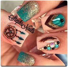 awesome Creative and Pretty Nail Designs Ideas - ihmlrc - Pepino Nail Art Design Get Nails, Fancy Nails, How To Do Nails, Pretty Nails, Hair And Nails, Pretty Nail Designs, Nail Art Designs, Nails Design, Unique Nail Designs