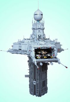 Custom-built 'Triport Spire' puts our Lego skills to shame