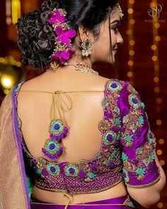 Hand Work Blouse Design, Stylish Blouse Design, Blouse Back Neck Designs, Pattu Saree Blouse Designs, Fancy Blouse Designs, Bridal Blouse Designs, Designer Blouse Patterns, Designer Dresses, Sumo