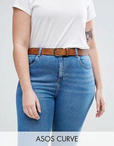 801a8b366b8 DESIGN Curve vintage tan jeans belt