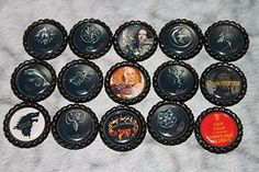 Geocaching Coin Bottle Caps - Game of Thrones Theme Set @ niftywarehouse.com