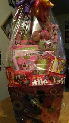 Smaller Minnie mouse easter basket