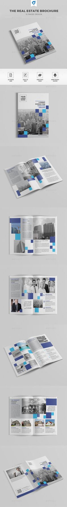 The Real Estate Brochure — InDesign INDD #catalogue #architecture • Available here → https://graphicriver.net/item/the-real-estate-brochure/11493992?ref=pxcr