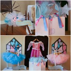 Party Favors: blue or pink tutu (make it blue/make it pink) and a bag of goodies