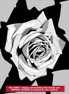 Roses stencil from The Stencil Library VINTAGE range. Buy stencils online. Stencil code VN169.