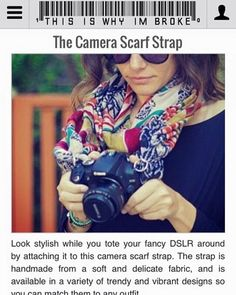 Aaaahhhh ❤️ This is so exciting!!! @thecamerascarf was featured on the ThisIsWhyImBroke website. They have such awesome stuff! Check it out www.thisiswhyimbroke.com/the-camera-scarf-strap ❤️❤️www.thecamerascarf.com. WATCH OUR LINK IN OUR BIO #camerascarf #thecamerascarf #camerascarfstrap #camerastrap #camerastraps #camerastyle #thisiswhyimbroke @thisiswhyimbrokee #etsy