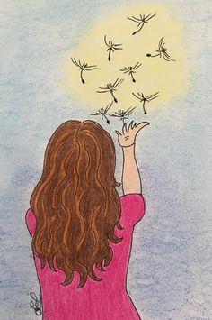 #dandelion #seeds #nature #girl #blowing #myart #drawing #art