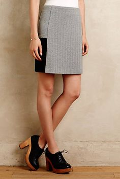 color/texture block refashion old suit skirt? Seneca Skater Skirt
