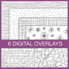 Digital Scrapbooking Doodle Overlays. Instant by ColorsonPaper, $4.00